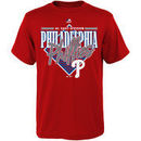 Majestic Philadelphia Phillies Youth Walk Off Homer T-Shirt - Red