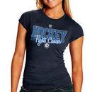 Winnipeg Jets Old Time Hockey Women's Hockey Fights Cancer T-Shirt - Navy Blue
