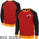 Miami Heat Creewz Big Sizes Crew Neck Pullover Sweatshirt - Red