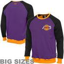 Los Angeles Lakers Creewz Big & Tall Crew Neck Pullover Sweatshirt - Purple