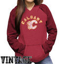 Original Retro Brand Calgary Flames Women's Relaxed Pullover Hoodie - Red