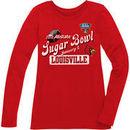 Louisville Cardinals Women's Sugar Bowl Bound Scoopneck Long Sleeve Slim-Fit T-Shirt