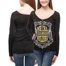 Metal Mulisha Score Juniors Long Sleeve Burnout T-Shirt - Black
