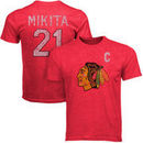 Old Time Hockey Stan Mikita Chicago Blackhawks Alumni Player Vintage Heathered T-Shirt - Red