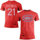 Old Time Hockey Guy Carbonneau Montreal Canadiens Alumni Player Vintage Heathered T-Shirt - Red