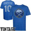 Old Time Hockey Dale Hawerchuk Buffalo Sabres Alumni Player Vintage Heathered T-Shirt - Navy Blue