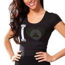 Boston Celtics Women's Touchback Slim Fit T-Shirt - Black
