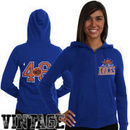 Junk Food New York Knicks Women's Team Establish Full Zip Hoodie - Royal Blue