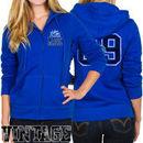 Junk Food Orlando Magic Women's Team Establish Full Zip Hoodie - Royal Blue