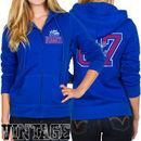 Junk Food Denver Nuggets Women's Team Establish Full Zip Hoodie - Royal Blue