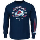 Majestic Colorado Avalanche Cross Check Long Sleeve T-Shirt - Steel Blue