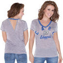 Touch by Alyssa Milano Carl Edwards Women's Valentina V-Neck T-Shirt - Gray