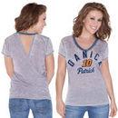 Touch by Alyssa Milano Danica Patrick Women's Valentina V-Neck T-Shirt - Gray