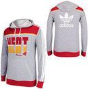 adidas Miami Heat  Originals Lightweight Pullover Hoodie - Gray/Red