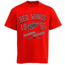 Majestic Detroit Red Wings Vintage Winner Short Sleeve T-Shirt - Red