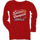 Louisville Cardinals Women's 2012 Basketball National Champions Long Sleeve T-Shirt - Red