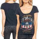 Affliction On The Road Juniors Slim Fit T-Shirt - Black