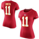 Alex Smith Kansas City Chiefs Nike Women's Player Name & Number T-Shirt - Red