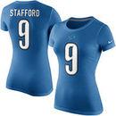 Matthew Stafford Detroit Lions Nike Women's Player Name & Number T-Shirt - Light Blue