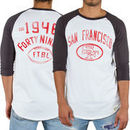 San Francisco 49ers Junk Food Red Zone Raglan Long Sleeve T-Shirt - White
