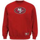 San Francisco 49ers Majestic Classic Heavyweight VI Pullover Crew Sweatshirt - Scarlet