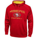 San Francisco 49ers Majestic Gridiron VI Synthetic Pullover Hoodie - Scarlet
