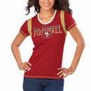 San Francisco 49ers Majestic Women's Pride Playing V T-Shirt - Scarlet