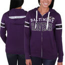 Baltimore Ravens Majestic Women's Pure Heritage VI Full Zip Hoodie - Purple