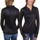 Miami Dolphins All Sport Couture Women's Draft Choice Snakeskin Knit 1/4 Zip Pullover Sweatshirt - Black