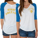 San Diego Chargers Junk Food Women's Victory Tri-Blend V-Neck Three-Quarter Sleeve T-Shirt - White