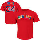 David Ortiz Boston Red Sox Majestic Official Name and Number T-Shirt - Red