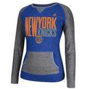 New York Knicks adidas Women's Shrinking Type Pullover Crew Sweatshirt - Royal Blue