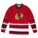 Chicago Blackhawks Mitchell & Ness 1st Period Long Sleeve T-Shirt - Red