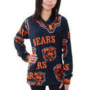 Chicago Bears Women's Ramble Microfleece Pullover Hoodie - Navy Blue