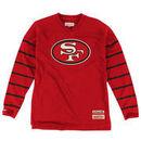 San Francisco 49ers Mitchell & Ness Cornerback Long Sleeve V-Neck T-Shirt - Scarlet