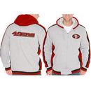 San Francisco 49ers Sweep Right Full Zip Fleece Hoodie - Gray