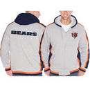 Chicago Bears Sweep Right Full Zip Fleece Hoodie - Gray