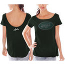 New York Jets Women's Back Track Scoop T-Shirt - Green