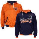 Chicago Bears Game Time Reversible Full Zip Hoodie - Navy Blue