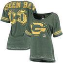 Green Bay Packers 5th & Ocean Women's Burnout Oversized T-Shirt - Green