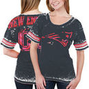 New England Patriots 5th & Ocean Women's Burnout Oversized T-Shirt - Navy Blue