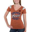 Chicago Bears 5th & Ocean by New Era Women's Tri-Blend V-Neck T-Shirt - Orange