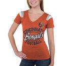 Cincinnati Bengals 5th & Ocean by New Era Women's Tri-Blend V-Neck T-Shirt - Orange