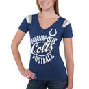 Indianapolis Colts 5th & Ocean by New Era Women's Tri-Blend V-Neck T-Shirt - Royal Blue
