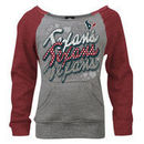 Houston Texans New Era Youth Girls Scoop Raglan Fleece Pullover Sweatshirt - Ash/Red