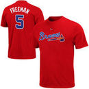 Freddie Freeman Atlanta Braves Majestic Big & Tall Official Player T-Shirt - Red