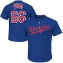 Yasiel Puig Los Angeles Dodgers Majestic Stars & Stripes Player Name & Number T-Shirt - Royal Blue
