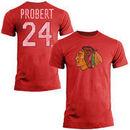 Bob Probert Chicago Blackhawks Old Time Hockey Name & Number T-Shirt - Red