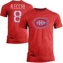 Mark Recchi Montreal Canadiens Old Time Hockey Vintage Heathered Alumni Player Name & Number T-Shirt - Red