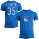 Mike Richter New York Rangers Old Time Hockey Name & Number T-Shirt - Royal Blue